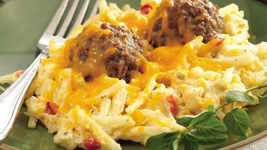 Italian Meatball and Potato Bake