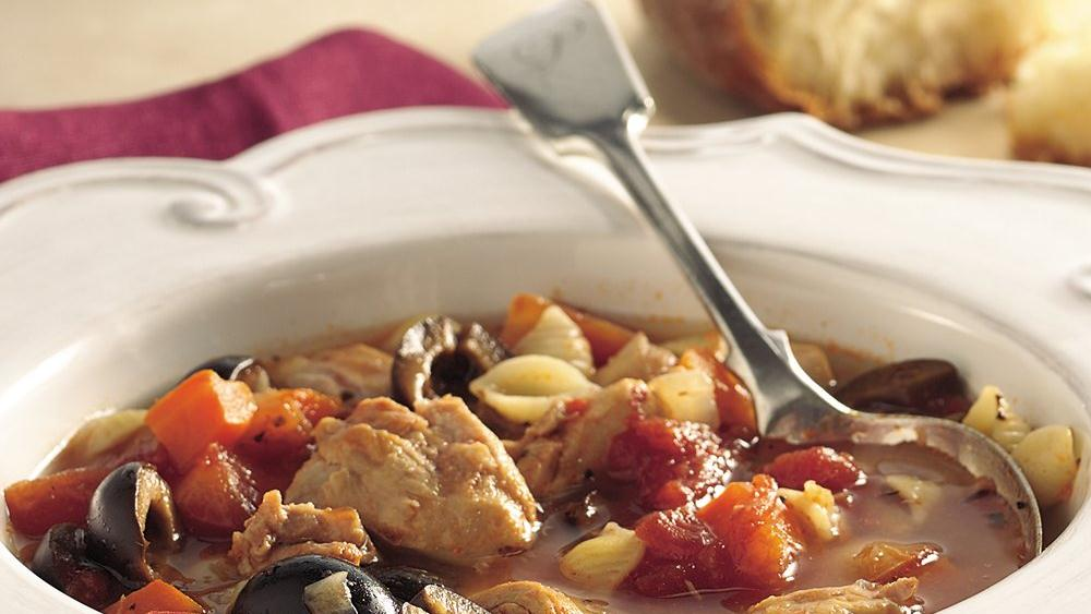 Slow-Cooker Italian Chicken-Pasta Soup
