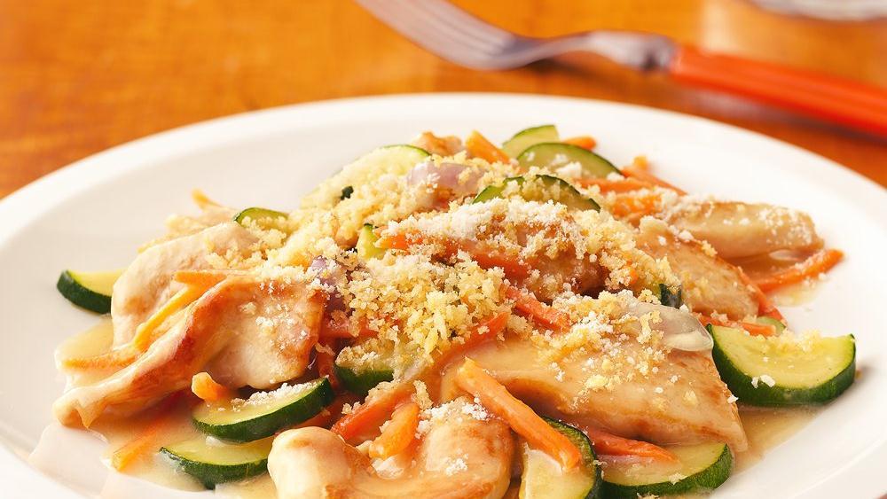 Chicken and Garden Vegetable Skillet