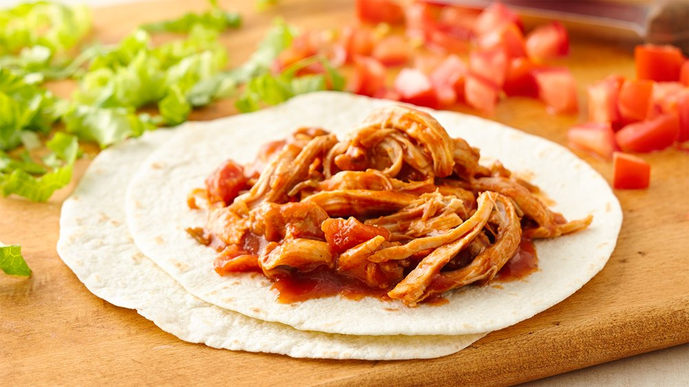 Slow-Cooker Shredded Mexican Chicken recipe from Pillsbury.com