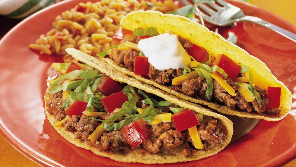Ground Beef Tacos recipe from Pillsbury.com
