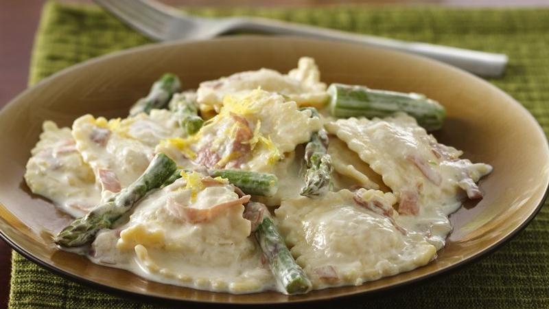 Lemony Asparagus-Prosciutto Ravioli