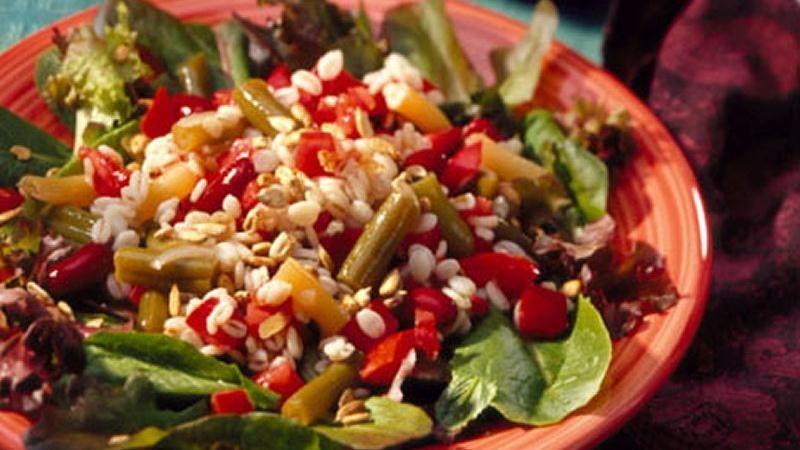 Three-Bean and Barley Salad