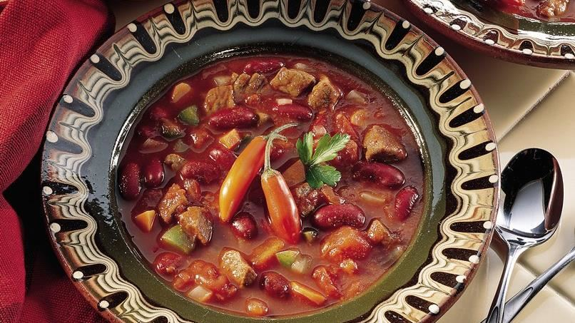 Slow-Cooked Chili Soup