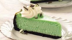 Crème de Menthe Cheesecake