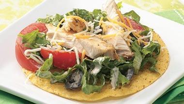 Southwestern Chicken Tostada Salad