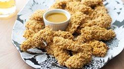 Baked Honey-Mustard Chex Chicken Fingers