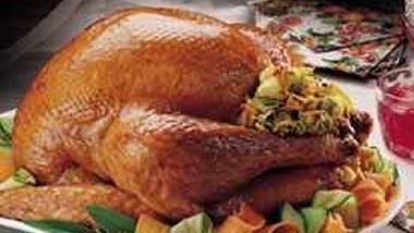 Roast Turkey with Vegetable Stuffing