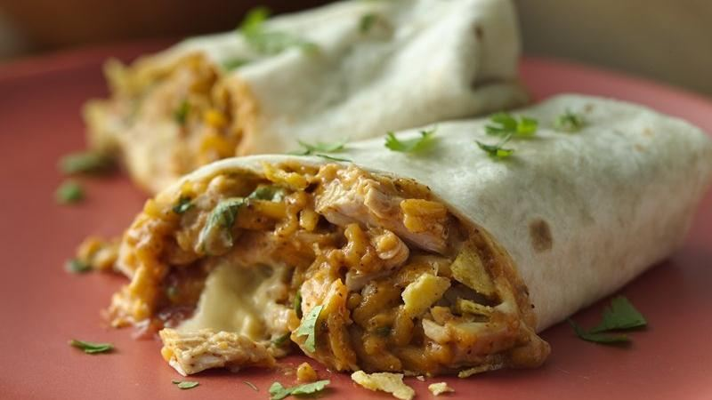 Crunchy Chicken Burritos