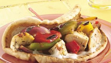 Greek Kabob Sandwiches