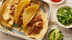 Tacos de Carne Molida y Papas