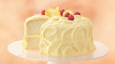 Lemon Cake with Whipping Cream Mousse