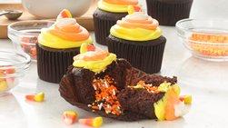 Candy Corn Surprise Inside Cupcakes