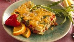 Horneado de brócoli y pollo con queso