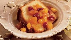 Festive Pound Cake with Fruit Compote