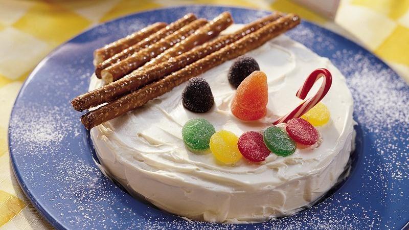 Snowman Face Cake