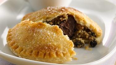 Chocolate-Chocolate Chip Cookie-Stuffed Pies