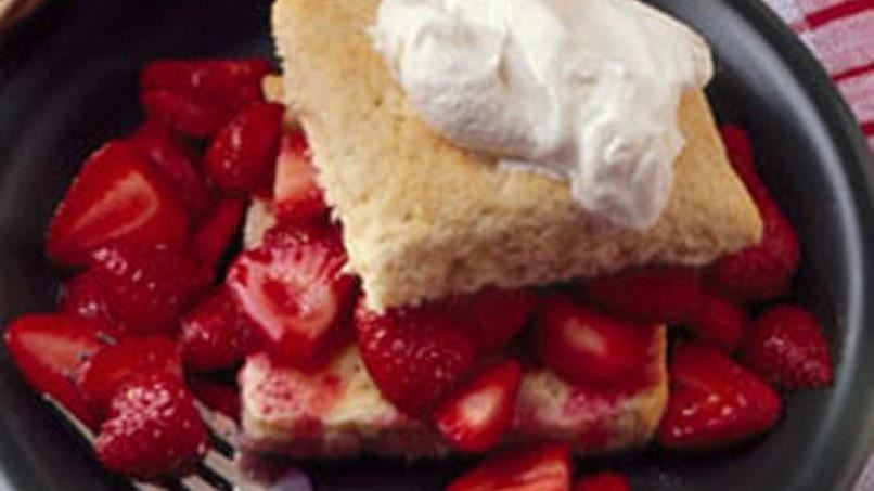 Pat-in-the-Pan Strawberry Shortcake