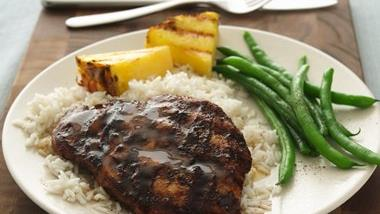 Pineapple-Glazed Spicy Chicken Breasts