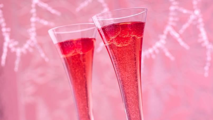 Hibiscus Royale Champagne Cocktail