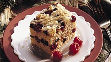 Raspberry-Marzipan Coffee Cake