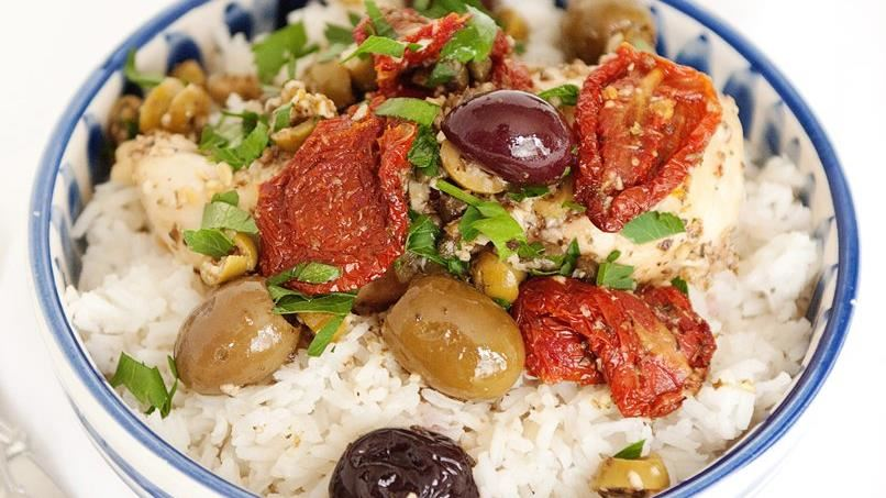 Mediterranean Chicken with Mixed Olives recipe - from ...