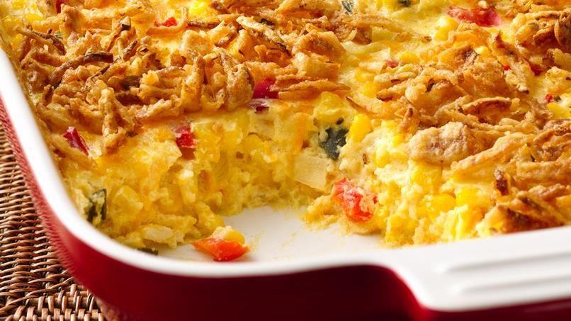 Cheesy Mexican Corn Bake