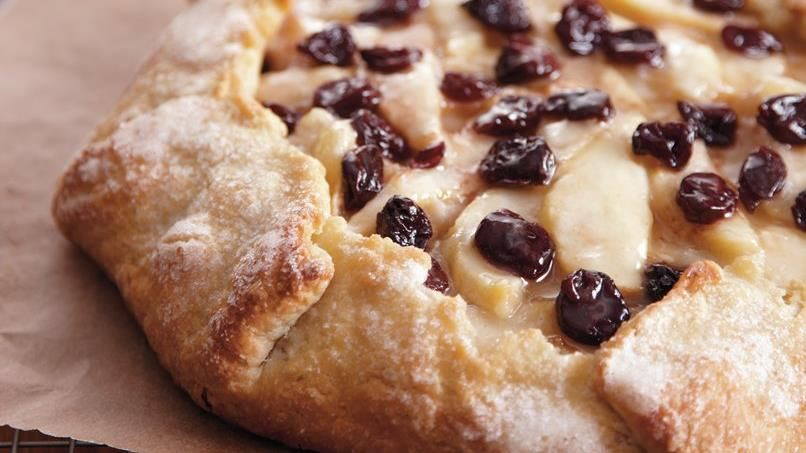 Cherry-Almond-Pear Crostata