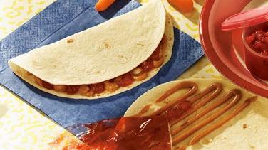 Peanut Butter and Jelly Squeeze Tortilla