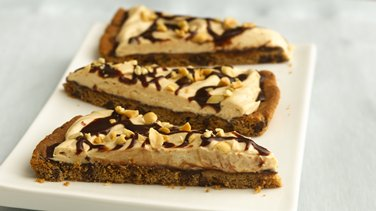 Chocolate-Peanut Butter Cookie Pizza (cookie dough tub)