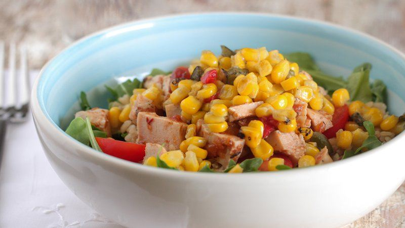 Southwest Chicken and Vegetable Brown Rice Bowls