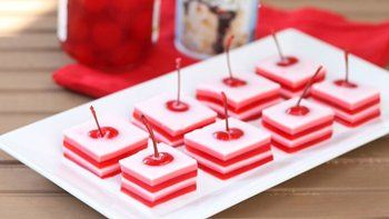 Cherry Cream Jello Shots