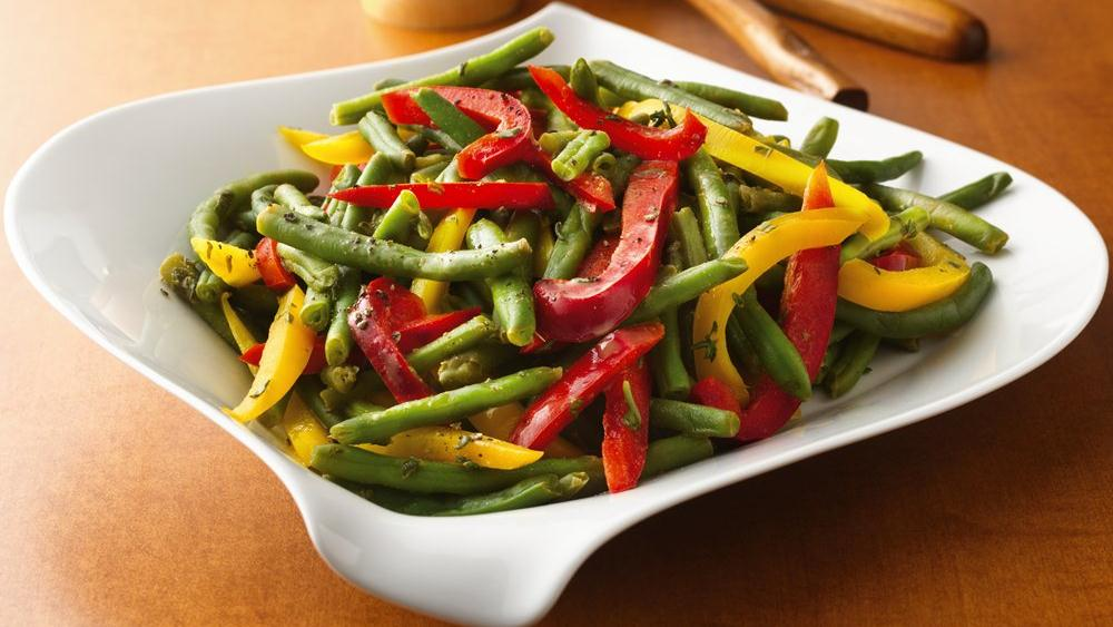 Green Beans with Colored Peppers