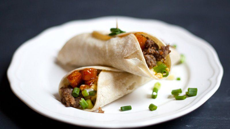 Asian Breakfast Tacos