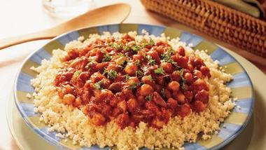 Couscous with Vegetarian Spaghetti Sauce