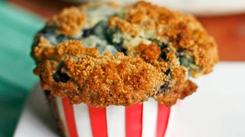 Blueberry-White Chocolate Streusel Muffins