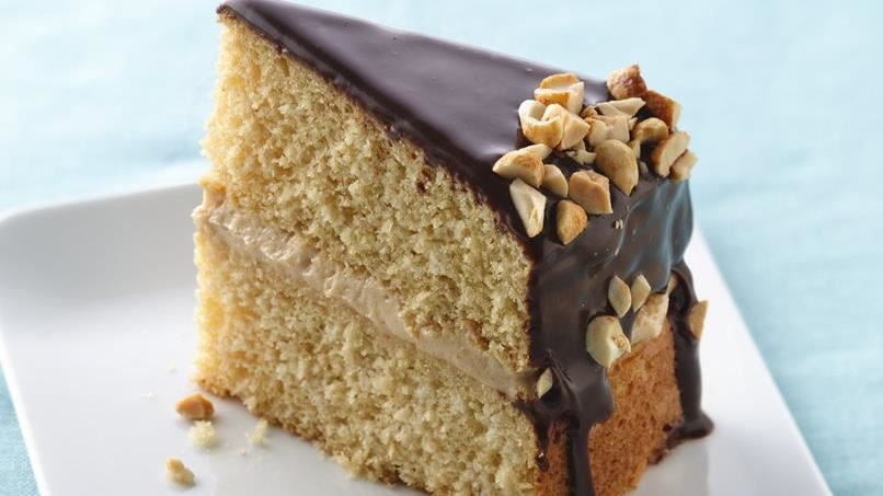Peanut Butter Boston Cream Cake