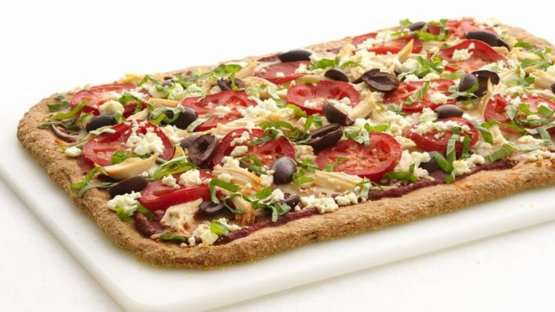 Healthified Greek Chicken Pizza