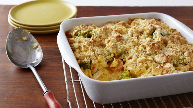 Cheesy Chicken and Vegetable Casserole