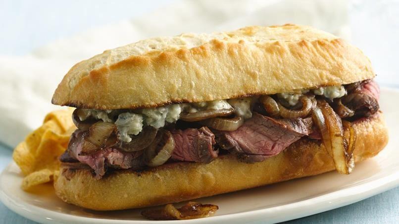 Blue Cheesesteak Sandwiches