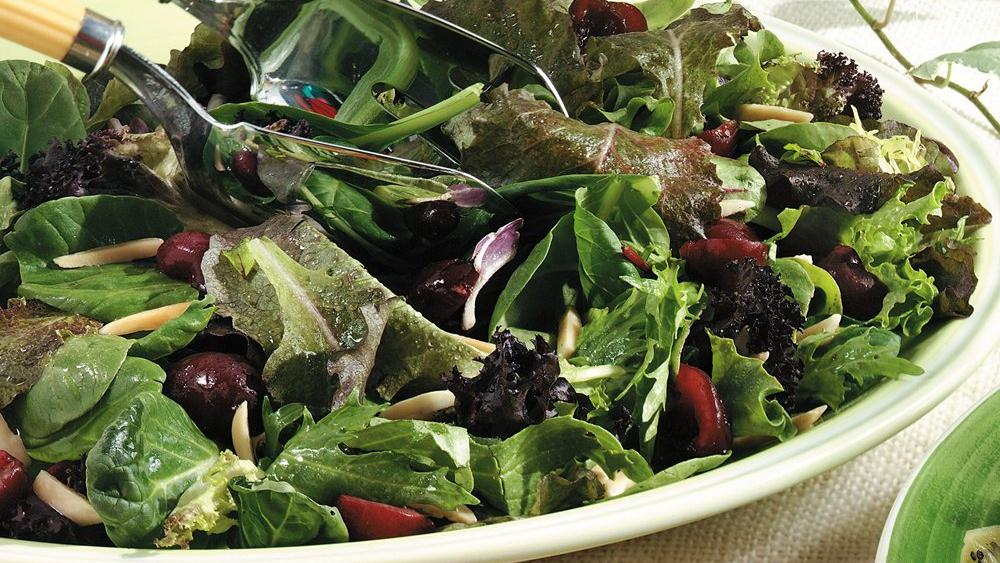 Cherry-Baby Greens Salad
