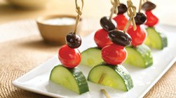 Gluten-Free Greek Salad Kabobs