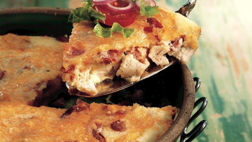 Impossibly Easy Turkey Club Pie