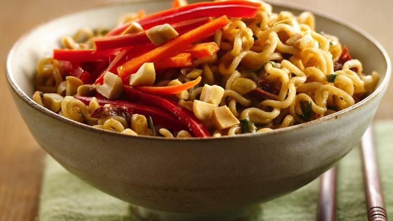 Chipotle Peanut Noodle Bowls