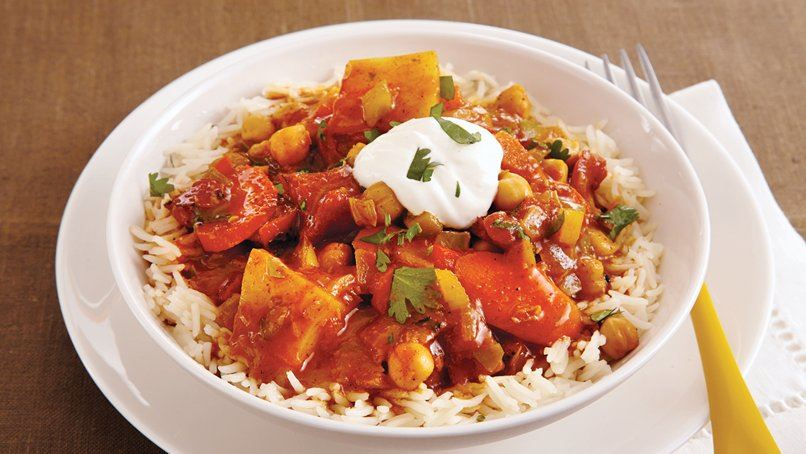 Slow-Cooker Vegetable and Chickpea Curry