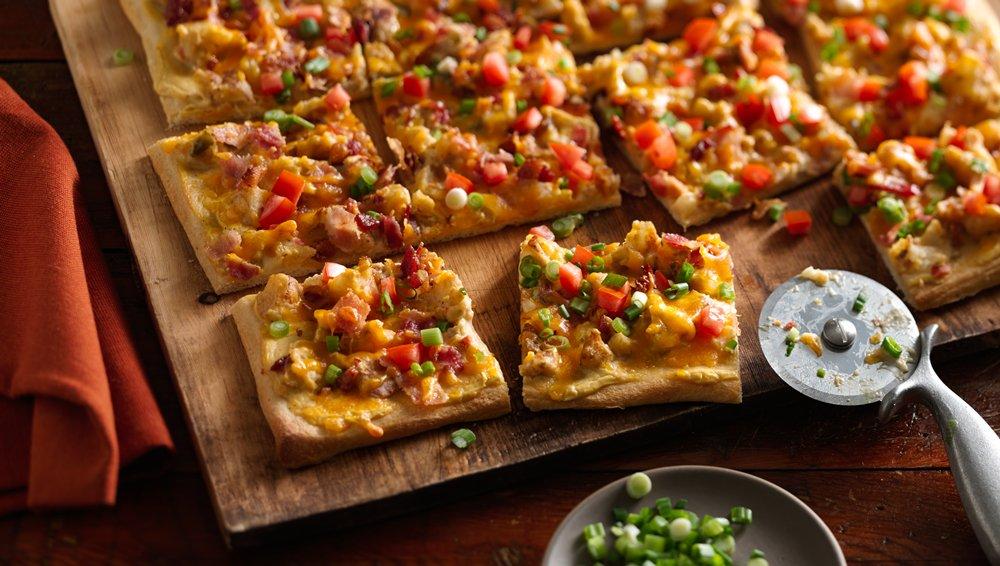 Loaded Bacon Potato Pizza