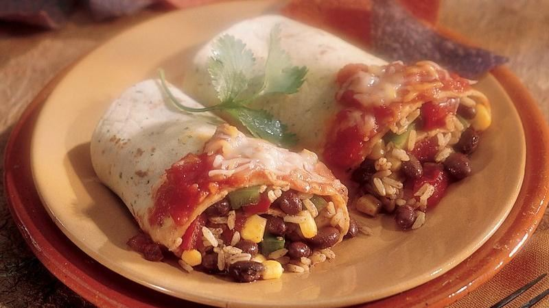 Rice and Bean Roll-Ups
