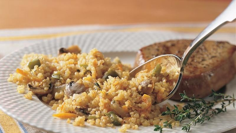 Onion and Mushroom Quinoa
