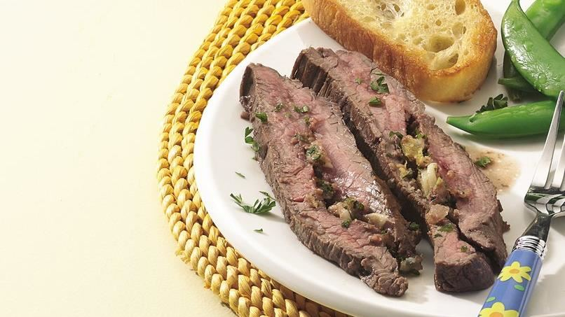 Herb-Stuffed Grilled Flank Steak