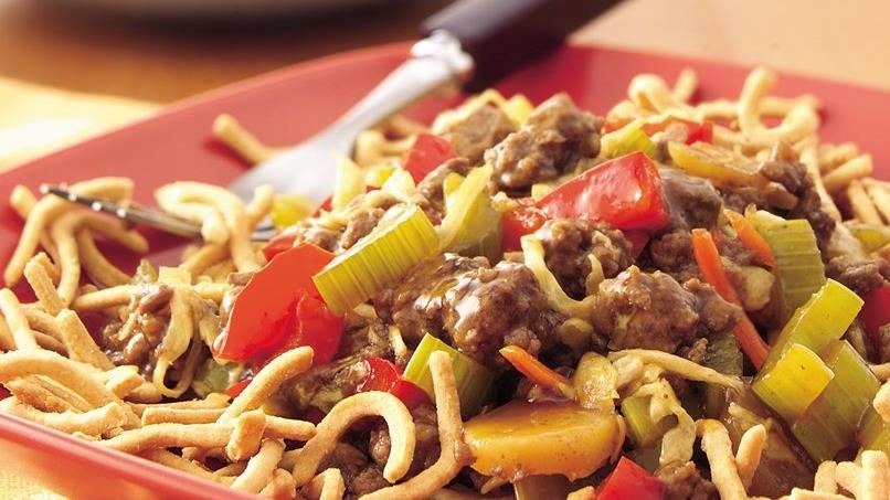 Ground Beef Chow Mein